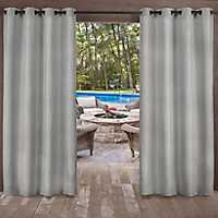 Biscayne Silver Curtain Panel Set, 108 in.