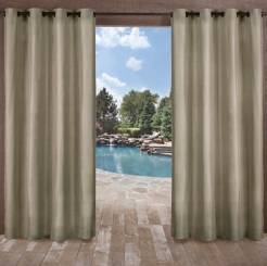 Biscayne Natural Curtain Panel Set, 108 in.