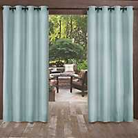 Biscayne Pool Blue Curtain Panel Set, 108 in.