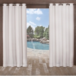 White Delano Outdoor Curtain Panel Set, 84 in.