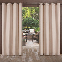 Taupe Delano Outdoor Curtain Panel Set, 84 in.
