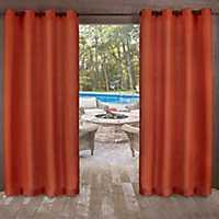 Orange Delano Outdoor Curtain Panel Set, 84 in.