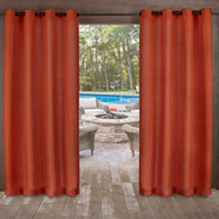 Orange Delano Outdoor Curtain Panel Set, 84 in.
