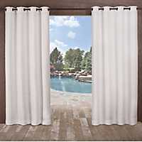 White Delano Outdoor Curtain Panel Set, 96 in.