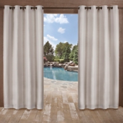 Silver Delano Outdoor Curtain Panel Set, 96 in.
