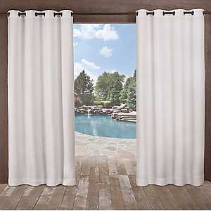 White Delano Outdoor Curtain Panel Set, 108 in.
