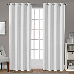 Leeds Winter White Curtain Panel Set, 84 in.