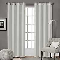 Leeds Vanilla Curtain Panel Set, 96 in.