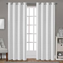 Leeds Winter White Curtain Panel Set, 108 in.