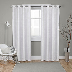 Oxford Vanilla Thermal Curtain Panel Set, 96 in.
