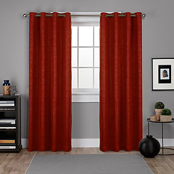 Oxford Mecca Orange Curtain Panel Set, 96 in.