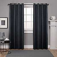 Oxford Charcoal Thermal Curtain Panel Set, 108 in.