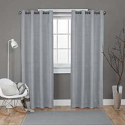 Oxford Silver Thermal Curtain Panel Set, 108 in.