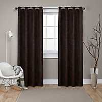 Oxford Espresso Thermal Curtain Panel Set, 108 in.