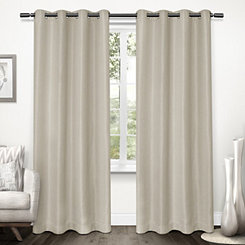 Natural Tweed Curtain Panel Set, 84 in.