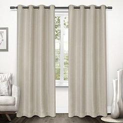 Natural Tweed Curtain Panel Set, 84 in.