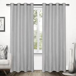 Gray Tweed Curtain Panel Set, 96 in.