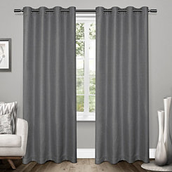 Black Pearl Tweed Curtain Panel Set, 96 in.