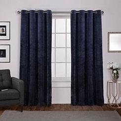 Navy Heavyweight Velvet Curtain Panel Set, 108 in.