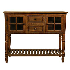Mariel Natural Wood Buffet Table