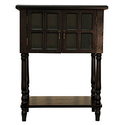 Naomi Black Wood Accent Table