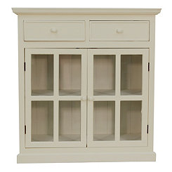 Lennon Antique White Cabinet