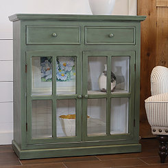 Lennon Antique Green Cabinet