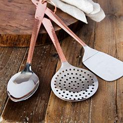 Hammered Copper Kitchen Tools, Set of 3