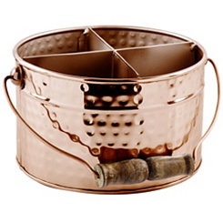 Round Copper Utensil Caddy