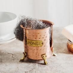 Hammered Copper Plated Sponge Holder