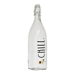 Rae Dunn Chill Glass Bail and Trigger Bottle