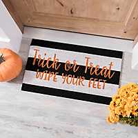 Trick or Treat Striped Coir Doormat