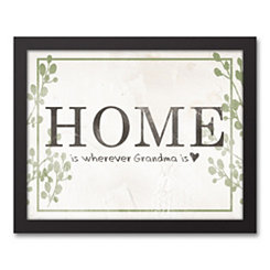Home Grandma Framed Canvas Art Print