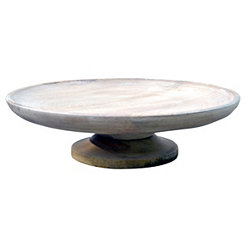 Mango Wood Bowl with Pedestal