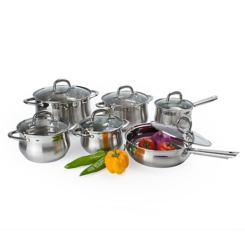 Stainless Steel Silver 12-pc. Cookware Set