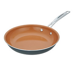 Copper Coated Frying Pan, 10 in.