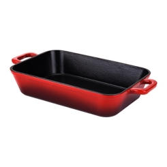 Red Cast Iron Enamel Roaster