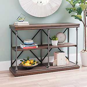 Sonoma Dark Finish Console Table