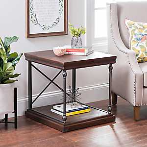 Sonoma Dark Finish Side Table