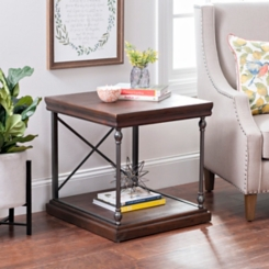 Sonoma Dark Finish Side Table