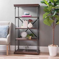 Sonoma Dark Finish X-Frame Shelf