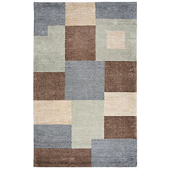 Multicolor Patchwork Area Rug, 5x8