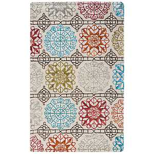 Multicolor Geometric Floral Area Rug, 5x8