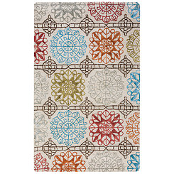 Multicolor Geometric Floral Area Rug, 5x8