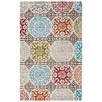 Multicolor Geometric Floral Area Rug, 8x10
