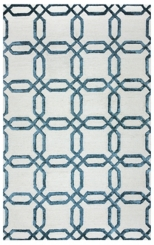 Blue Geometric Lattice Area Rug, 8x10