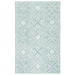Blue Diamond Medallion Area Rug, 5x8