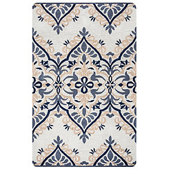 Navy Ornamental Area Rug, 5x8