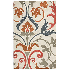 Multicolor Oversized Floral Area Rug, 5x8