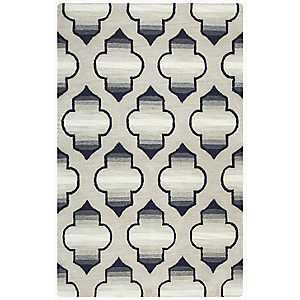 Gray Ombre Trellis Area Rug, 5x8
